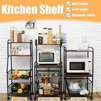 3/4Tier Baker's Rack Microwave Oven Stand Shelves Kitchen Storage Rack Organizer