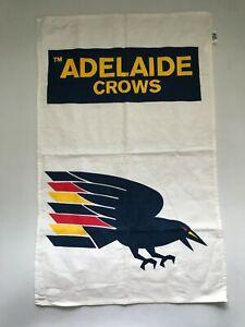 Rare Vintage 90s Adelaide Crows Football Club Tea Towel Cornes Blight Premier Er