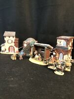 Porcelain Nativity Set 10 Pc Lighted Ceramic Bethlehem Village In Original Box