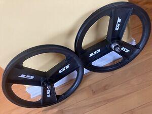 """GT Fan Mags, Mid School 3 Spoke Mag Wheelset 20"""" BMX"""