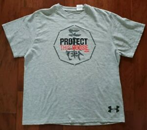Georges St-Pierre GSP Under Armour Heat Gear T-Shirt UFC MMA Medium