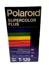 New Polaroid Supercolor Plus Blank Video Cassette Tape VHS T-120 Sealed