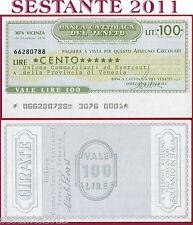 BANCA CATTOLICA DEL VENETO Lire 100 29.12. 1976 UNIONE COMMERCIANTI VENEZIA B137