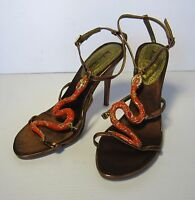 Michael Antonio Heels Sandals Shoes Size 7, Brown