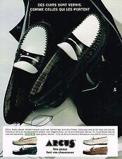 PUBLICITE ADVERTISING 064  1995  ARCUS    chaussures mocassins