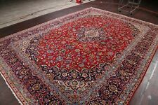 Vintage Traditional Floral Ardakan Area Rug Wool Hand-made Red Living Room 10x13