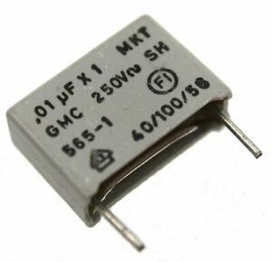 ERO Interference Suppression Film Capacitor, 0.01µF 250V - Lot of 1, 3, or 10.