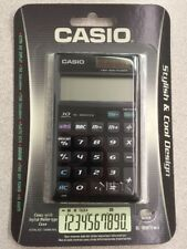 NEW Casio SL1000TV-BK-s KNIGHT BLACK Electronic Calculator 10 Digit LCD w/WALLET
