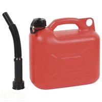 Ribimex tanque 5lt polietileno + pico x gasolina aceite de alta densidad PRJE5