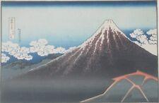 Katsushika Hokusai Japanese Woodblock Reprint Rainstorm Beneath the Summit