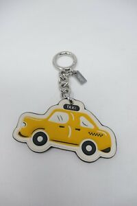 COACH  Large Leather NYC Taxi Yellow Cab Bag Charm key Fob NEW Retailed at 70.00