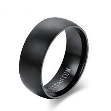Size 11 Men's Black Titanium Steel Ring Wedding Engagement Anniversary Band ER52