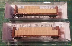N Micro Trains 054 53/54 040 Trailer Train  61' Bulkhead Flat Cars w/loads