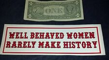 "HELLS ANGELS SUPPORT STICKERS ""HISTORY"" BUMPER"