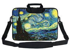 "15"" Laptop Computer Sleeve Bag with 2 Top Pockets & Shoulder Strap Handle 3009"