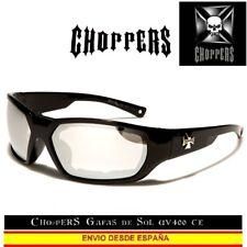CHOPPERS Gafas de Sol UVAB Acolchado Quitable Moto Espejo Lunettes Occhiali