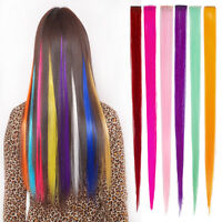3pcs Women's Long Straight Synthetic Clip in on Hair Extensions Piece PRO