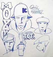 MOZE - B.BOY graffiti sketch 2015 - NO SEEN/COPE2/JONONE/QUIK/DAZE/CRASH/INVADER