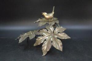 Japanese Cast Bronze Bird ornament Okimono Shuzan BOS257 w/box