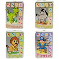 Snap Pairs Card Game Dinosaurs Farmyard Jungle Pirates Kids Stocking Filler Toy