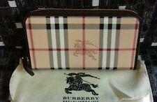 Burberry Haymarket Large Ziggy Zip Around Wallet, NWT