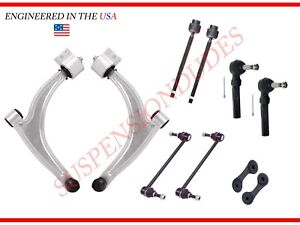 10PC Suspension Kit Control Arm Sway Bar Links Tie Rod Chevrolet Malibu G6 Aura