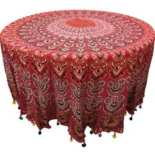 Hippie Beach Mat Blanket Bohemian Mandala Round Throw Towel Yoga Indian Tapestry