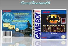 "Boitier du jeu ""BATMAN"", Game Boy. Nintendo. PAL FR. HD. SANS LE JEU."
