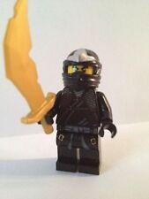 Lego Ninjago Cole ZX Minifig Black Ninja Gold Sword 30087 9444