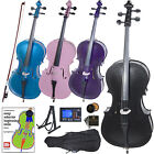 Cecilio Student Black Blue Pink or Purple Cello Outfit