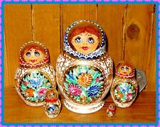 Russe Petite Matriochka poupee russe peint à la main sidorova signé 5