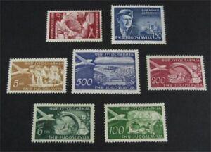 nystamps Yugoslavia Stamp # C44//C54 Mint OG H/NH $35   L23y1280