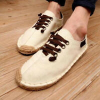 Mens Fashion Summer Comfy Breathable Canvas Loafer Slip On Espadrilles Shoes HOT