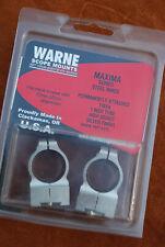 Nos Warne Scope Mounts Warne Tikka, High Rings 2Ts Silver Nib