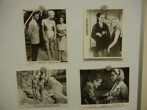 Lot of 4 Julie Newmar Studio Still Photos 8x10  MINT