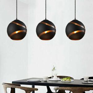 Glass Pendant Light Home Black Ceiling Lamp Bar Lighting Modern Kitchen Lights