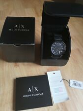 Mens Genuine Armani Exchange Chronograph Watch Black Sports AX1326 Date Emporio