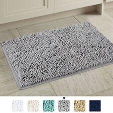 H.Versailtex Microfiber Bath Rugs Chenille Floor Mat 17x24