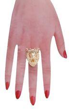 Jewelry Gold Metal Elastic Crown King Women Animal Lion Ring Kingdom Fashion