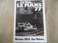 PORSCHE Postkarte Mission 2014 Our Return Nr. 4 SR318