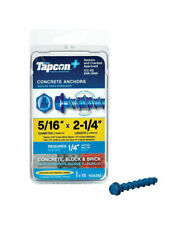 Tapcon Concrete Screw Anchor 5/16 in. Dia. x 2-1/4 in. L 15 pk