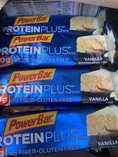 PowerBar Protein Plus Bar Vanilla 2.12 Ounce Each Bar - Pack of 15 Dated 2021