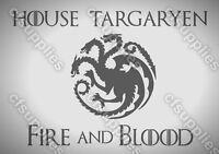 Game Of Thrones Targaryen Mylar Brosse à air pochoir 125/190 microns A5/A4/