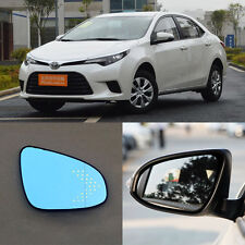 Rearview Mirror Blue Glasses LED Turn Signal with Heating For Toyota Levin