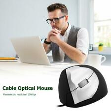 3 Buttons USB Wired 1000 DPI Mice Optical Vertical Office Mouse for Windows/Mac