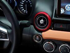 FIAT 124 Spider set di rosso Decorative Anelli di sfiato aria (3) NUOVO ORIGINALE 71807615