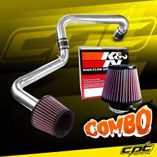 01-05 Honda Civic Automatic 1.7L Polish Cold Air Intake + K&N Filter