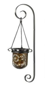 Partylite Amaretto Swirl Mosaic Glass Metal WALL SCONCE Candle Holder P90924