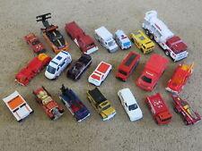 Mixed Lot of 21 diecast emergency vehicles - fire trucks, ambulances, rescue