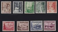 Germany Sc #B107-115 (1937) Ships Semi-Postal Set Mint VF NH MNH